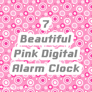 Pink Digital Alarm Clock