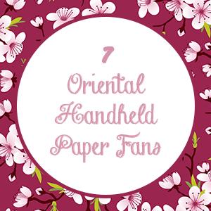 Oriental Handheld Paper Fans